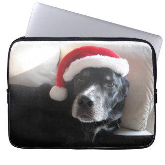 Santa Dog-Labrador Rottweiler Mix Computer Sleeves