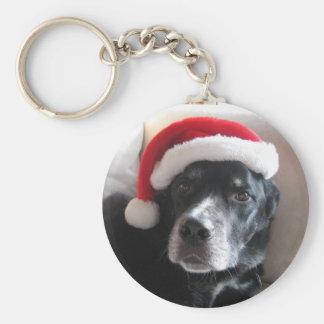 Santa Dog-Labrador Rottweiler Mix Keychain