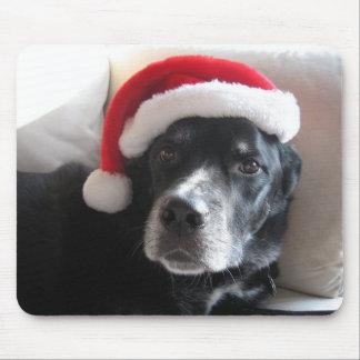 Santa Dog-Labrador Rottweiler Mix Mouse Pad