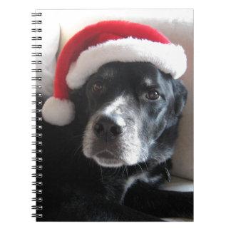 Santa Dog-Labrador Rottweiler Mix Notebook
