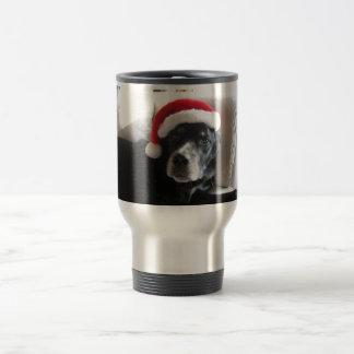 Santa Dog-Labrador Rottweiler Mix Travel Mug