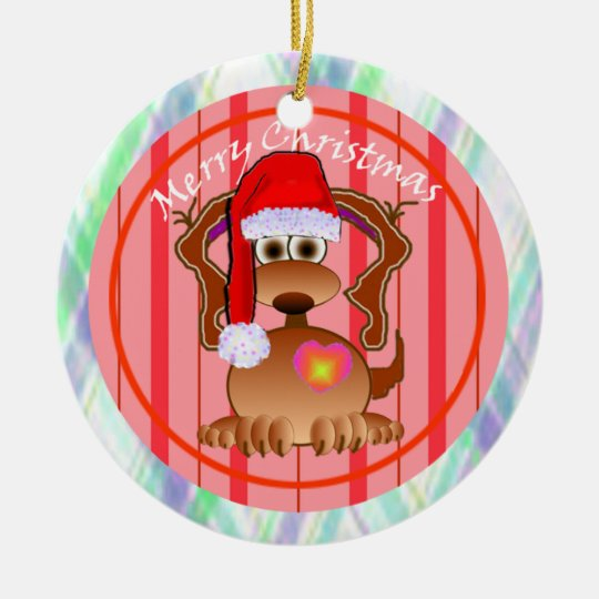 Santa Dog Ornament