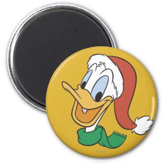 Santa Donald Duck 2 Inch Round Magnet