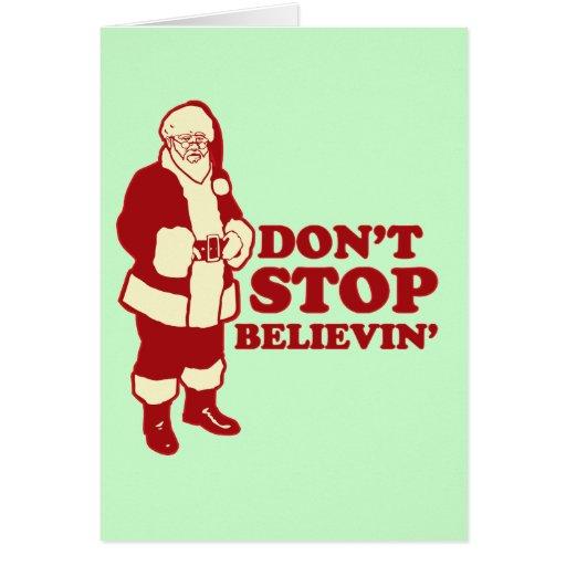 Santa, Don't Stop Believin' Cards