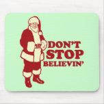 Santa, Don't Stop Believin' Mouse Mats