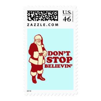 Santa, Don't Stop Believin' Postage Stamp