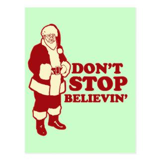 Santa, Don't Stop Believin' Postcard