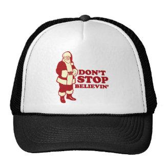 Santa, Don't Stop Believin' Trucker Hat
