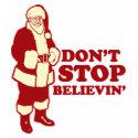 Santa, Don't Stop Believin' shirt