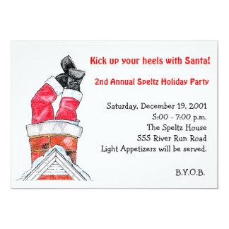 Santa Down the Chimney Invitation