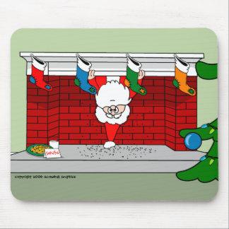Santa Down the Chimney Mouse Pad