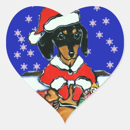 Santa Doxie Pegatina En Forma De Corazón