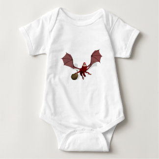 Santa Dragon Baby Bodysuit