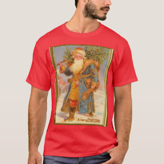 Santa dressed in blue, Vintage image T-Shirt