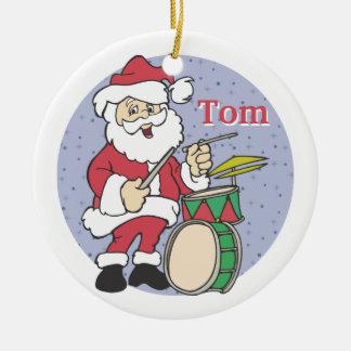 Santa Drummer Christmas Ornament Christmas Ornament