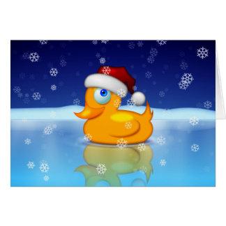 Santa Duck Card