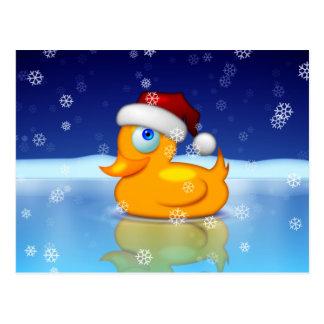 Santa Duck Postcard