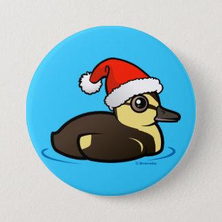 Santa Duckling Button