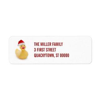 Santa Ducky Kitsch Label label