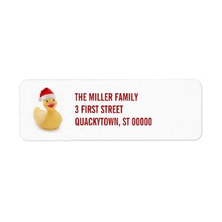 Santa Ducky Kitsch Label