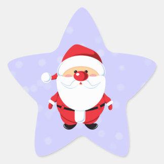 Santa dulce pegatina en forma de estrella