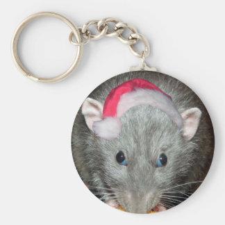 Santa Dumbo rat Christmas Keychain