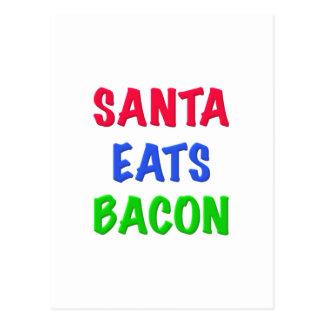 Santa Eats Bacon Postcard