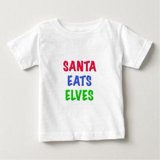 Santa Eats Elves T Shirts
