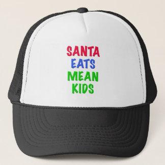 Santa Eats Mean Kids Trucker Hat