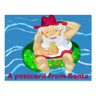 Santa el días de fiesta postales