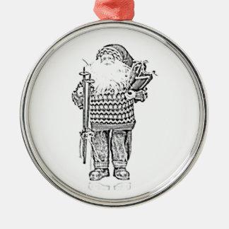Santa elegante en el dibujo de lápiz del suéter de