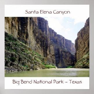 santa-elena-canyon7, barranco de Santa Elena, gran Posters