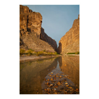 Santa Elena Canyon And Rio Grande At Sunrise Poster