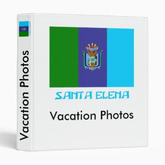 Santa Elena flag with Name Vinyl Binder