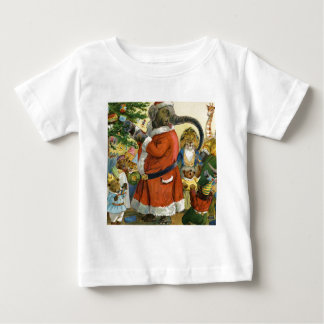 Santa Elephant Celebrates an Animal Christmas Baby T-Shirt