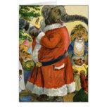 Santa Elephant Celebrates an Animal Christmas Cards
