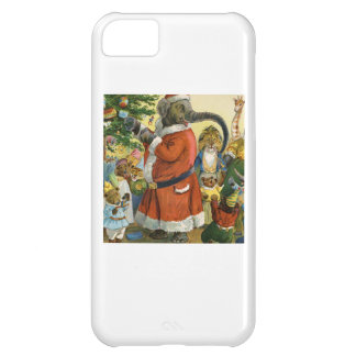 Santa Elephant Celebrates an Animal Christmas Cover For iPhone 5C