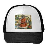 Santa Elephant Celebrates an Animal Christmas Trucker Hats
