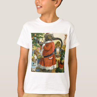 Santa Elephant Celebrates an Animal Christmas T-Shirt