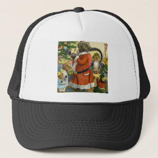 Santa Elephant Celebrates an Animal Christmas Trucker Hat
