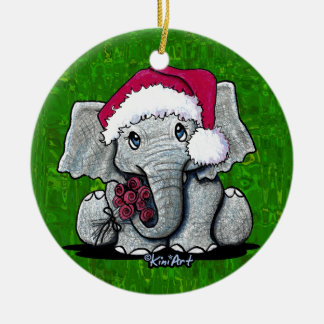 Santa Elephant Ornament