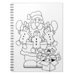 Santa & Elf Christmas Colour-In Notebooks