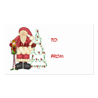 Santa,Elf Christmas Gift Card Business Card