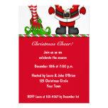 Santa & Elf Holiday Party Invitation