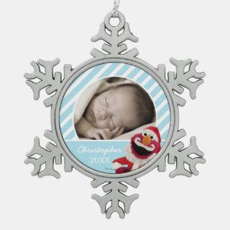 Santa Elmo | Add Your Name Snowflake Pewter Christmas Ornament