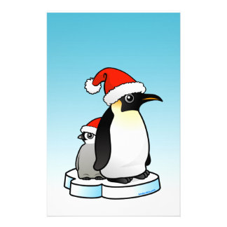 Santa Emperor Penguin Stationery