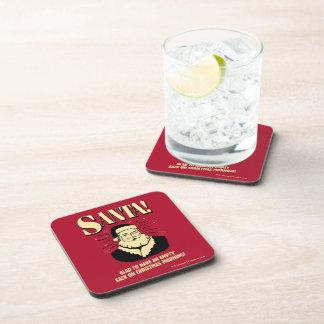 Santa: Empty Sack On Christmas Morning Beverage Coaster