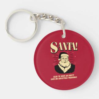 Santa: Empty Sack On Christmas Morning Keychain