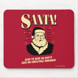 Santa: Empty Sack On Christmas Morning Mouse Pad