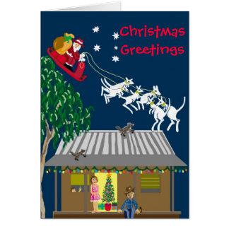 Santa en Australia Tarjeta De Felicitación